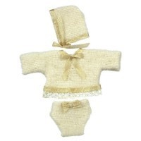 Dollhouse Beige Baby Suit w/ Hat - Product Image