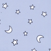 (§) Disc 50% Off - 3 Shts Blue Stars & Moon Paper - Product Image