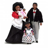 § Sale $4 Off - Victorian African American Doll Family - Product Image
