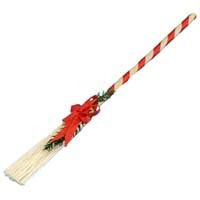 Dollhouse Decorated Christmas Broom - Product Image