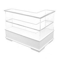 Sale $5 Off - L Shape 2 Tier Display Counter- Choice of Style - - Product Image