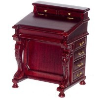 Dollhouse Mahogany Davenport Desk - Product Image