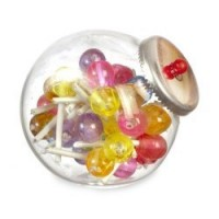Dollhouse Counter Jar of Lollipops - Product Image