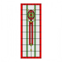 Simulated Stain Glass Insert for Door - Product Image