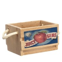 (**) Empty Fruit Crate with Decal & Handles - Product Image