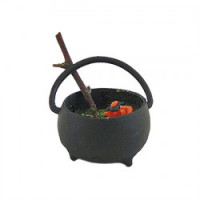 Dollhouse Filled Witch's Cauldron - Product Image