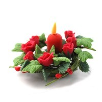 Centerpiece - Red or White Flowers - Product Image