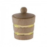 (**) Dollhouse Wooden Bucket with Lid - Product Image