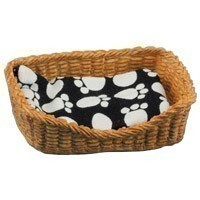(**) Dollhouse Pet Basket - Rectangular - Product Image