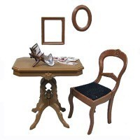 Dollhouse Victorian Table Set (Kit) - Product Image