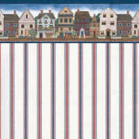 (§) Sale .70¢ Off - 1 Sht Sam's Corner Wallpaper - Product Image
