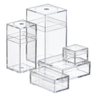 (*) Plastic Cube(s) -  Display Boxes- Choice of Size - - Product Image