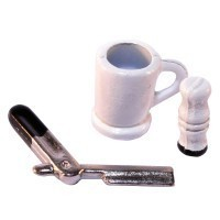 § Sale .50¢ Off - Dollhouse Vintage Shaving Set - Product Image