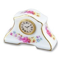 Dollhouse Floral Mantle Clock by Reutter - Product Image