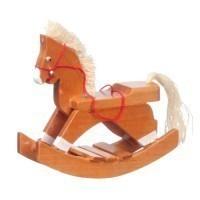 Dollhouse Wooden Rocking Horse - Product Image