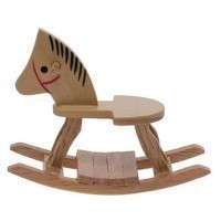 § Disc. $2 Off - Dollhouse Wood Rocking Horse - Product Image