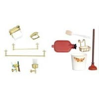 (***) Dollhouse Bathroom Accessories Set- Choice Of Styles - - Product Image