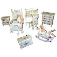 Dollhouse Painted Nursery Set - Product Image