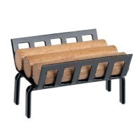 Dollhouse Logs or Metal Log holder with Logs - Product Image