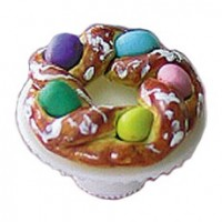 Braided Easter Bread on Stand - Product Image