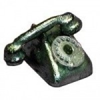 (*) Dollhouse Telephone with Dial - Product Image
