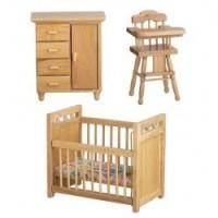 Dollhouse Nursery - Oak - Product Image