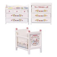 Dollhouse ABC Nursery - White - Product Image