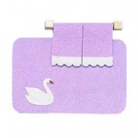 Disc $1 Off - Dollhouse Swan Rug & Towel Set - Product Image