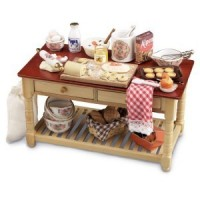 Dollhouse Filled Work Baking Table - Product Image