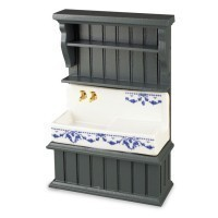 Dollhouse Kitchen Cabinet with Sink (Large) - Product Image