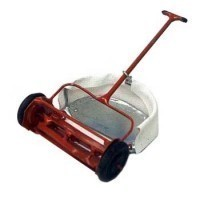 Dollhouse Push Mower with Grass Bag - Product Image