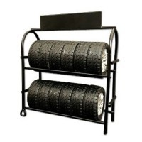 (**) Dollhouse Metal Tire Rack with Tires - Product Image