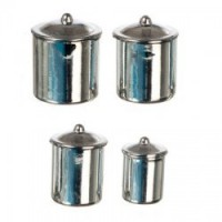 Dollhouse Stainless Steel Kitchen Canisters - Product Image