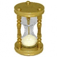 Dollhouse Miniature Brass Hourglass - Product Image