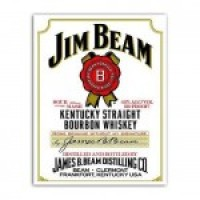 (§) Sale .50¢ Off - Dollhouse Jim Bean Bourbon Poster - Product Image