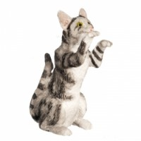 Dollhouse Miniature Begging Cats - Product Image