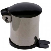 (**) Dollhouse Stainless Steel Garbage Can - Product Image