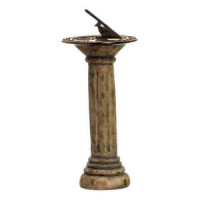 Dollhouse Sundial on On Pedestal - Product Image