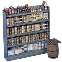 Dollhouse Single Sided Store Shelf (Kit) - Product Image