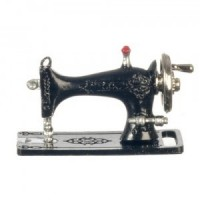 Dollhouse Black Tabletop Sewing Machine - Product Image