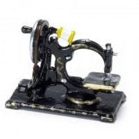 Dollhouse Black VintageTabletop Sewing Machine - Product Image