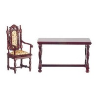 Dollhouse Gryphon Library Desk & Chair - Product Image