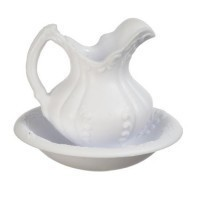 Dollhouse Victorian Pitcher & Bow - Product Image