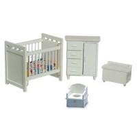 Dollhouse White Nursery - Product Image