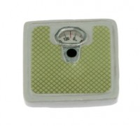 White Dollhouse Bath Scale - Product Image