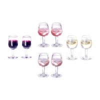 2 Dollhouse Filled Glasses of Wine - Product Image
