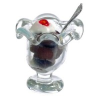 § Sale .50¢ Off - Dollhouse Miniature Ice Cream Sundae - Product Image