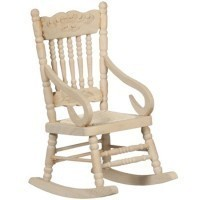 Dollhouse Rocking Chair - Unfinished - Product Image