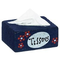 Dollhouse Country Wood Tissue Box - Product Image