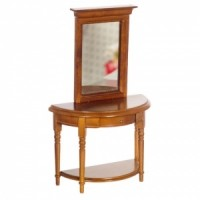 Dollhouse Hall Table and Mirror - Product Image